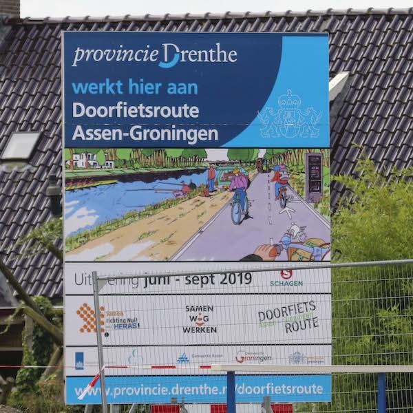 Doorfietsroute Assen Groningen