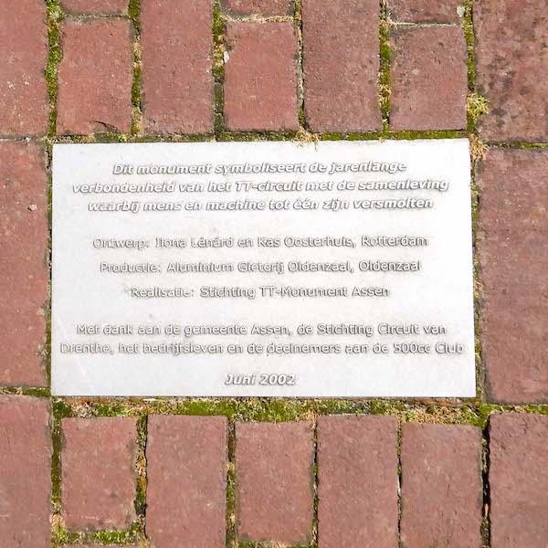 Monument TT Assen Brink