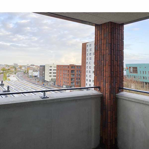 Uitzicht balkon appartement Assen te huur Dr. Schaepmanstraat 143 Assen_2